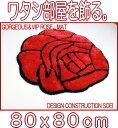 新生活 心が和む ローズ マット おしゃれ 約80×80cm 薔薇 ゴージャス VIPラグ ローズシャギーマット 玄関マット ベットサイドマット アクセントマッ...