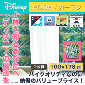 ディズニー カーテン ハイド 100x178cm プー おしゃれ 和風 北欧 日本製 カフェ風