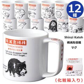 【絶滅危惧種マグ】マグカップ 日本製 Shinzi Katoh インテリア 動物 ラッピング可【小倉陶器】【SOERU-ソエル-】キャッシュレス 還元