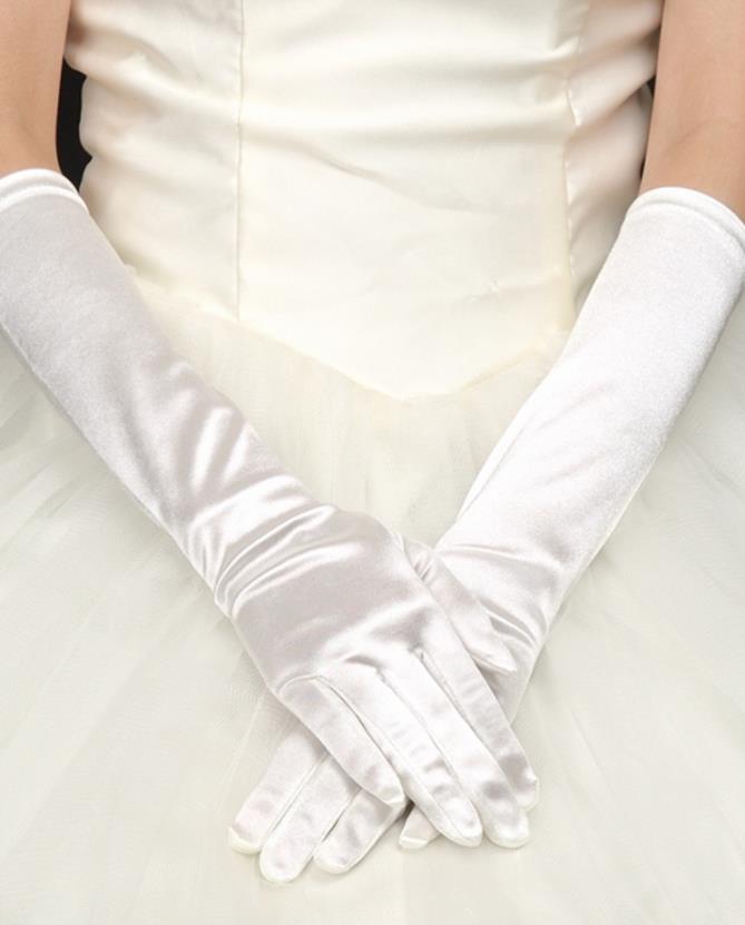 シンプルなウェディング ロング グローブ(肘上)/手袋(メール便送料無料)   (メール便限定送料無料)10P03Dec16