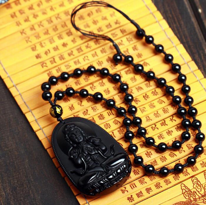 オブシディアン 八大守護神干支守護神の彫刻ペンダント/・10P03Dec16