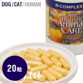 アズミラ Azmira Bコンプレックス 20カプセル(犬 猫用) 【サプリ サプリメント 犬 猫 ペット イノシトール コリン ビタミンB2 葉酸】