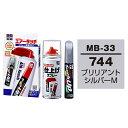 ソフト99 タッチアップペン(筆塗り塗料) MB-33 【メルセデスベンツ・744・ブリリアントシルバーM】とエアータッチ仕…