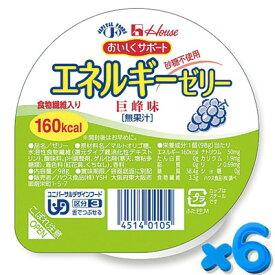 おいしくサポート エネルギーゼリー 巨峰 98g【6個セット】 ハウス食品【YS】【店頭受取対応商品】