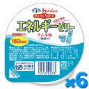 おいしくサポート エネルギーゼリー ラムネ味 98g×6個セット ハウス食品【YS】