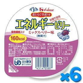 おいしくサポート エネルギーゼリー ミックスベリー 98g【6個セット】 ハウス食品【YS】【店頭受取対応商品】