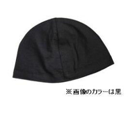 【メール便 送料185円】綿の汗取りキャップ 黒 C017 帽子 がん治療 【PE】