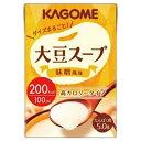 大豆スープ 味噌風味 100ml×36本 カゴメ【YS】