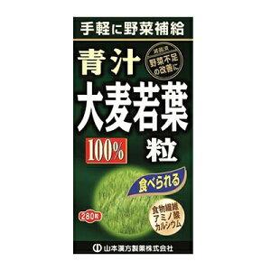 山本漢方 大麦若葉 青汁粒100% 280粒 山本漢方製薬 青汁 ヤマカン【PT】