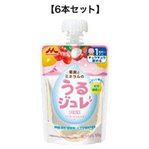 うるジュレPINK 100g【6本セット】森永乳業【RH】シールド乳酸菌 乳児用 12か月頃から