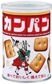 【送料無料】非常食 缶入りカンパン 100g 24缶/箱 三立製菓【国内外 転売禁止】