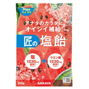 【まとめ買い】 匠の塩飴 スイカ味 100g 20袋/箱【送料無料】【代引不可】熱中症対策