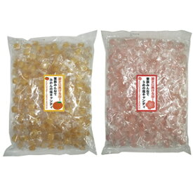 【送料無料】みかん塩飴 1kg + 梅塩飴 1kg 各5袋/箱【ケース買い】熱中症対策