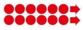 【感染対策】誘導シール12枚入り 丸型 100x100mm 10 ソーシャルディスタンス ステッカー 感染防止対策  レジ 受付 注意喚起