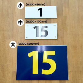 激安! 駐車場 番号 プレート 小サイズ 【サイズW200xH80mm】 駐車場 看板 番号札 ナンバープレート