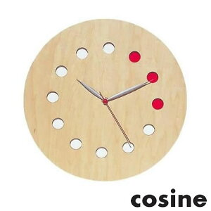 [全品対象【3%OFFクーポン】9/25土限り]掛け時計 (カラー) 木製 天然木 メープル ナラ ウォルナット 日本製 国産 cosine コサイン CW-01