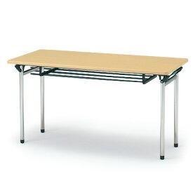 [【10%OFFクーポン】3/1(月)オフィス家具SALE]折りたたみ テーブル イトーキ ITOKI TTF 棚付 150×60【自社便/開梱・設置付】