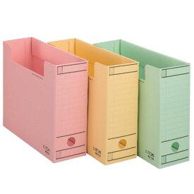 【ファイル用品】イトーキ ワンタッチ組立式ボックスファイル/フタなし/A4用【10冊セット】