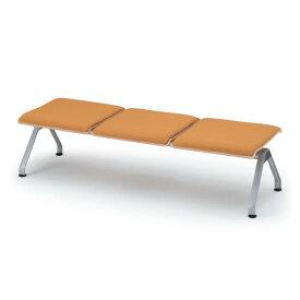 【ロビー・ラウンジ家具】 イトーキ ウェイティング PA-5/3連背なしベンチ クッション付/シェル97:メープル【自社便/開梱・設置付】