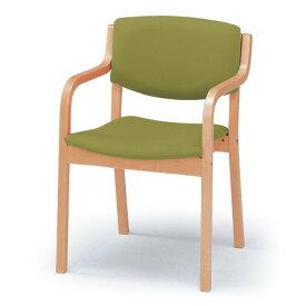 ダイニングチェア アームチェア スタッキングチェア ビニールレザー張り 肘付 イトーキ ITOKI PCK-2005DT【自社便 開梱・設置付】 椅子 いす イス チェア
