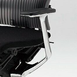 【短納期商品】イトーキ Spina(スピーナチェア)専用オプション/T型肘(アルミミラー)/左右セット【自社便/開梱・設置付】