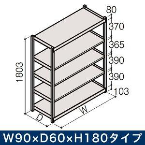 物流家具 イトーキ ボルトレス軽中量ラック RL型[単体]/開放型 (200kg仕様) W90×D60×H180タイプ 棚板5段【自社便/開梱・設置付】