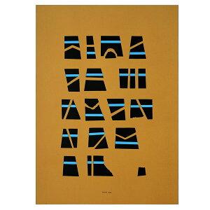 DANESE(ダネーゼ) ポスター Scrittura illeggibile di un popolo sconosciuto/ochre (50×70cm)