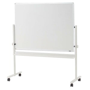 イトーキ 脚付き ホーロー 回転型ホワイトボード (ホワイト+スクリーン) ロータイプ 外寸:W134×H148cm/板面:W120×H90cm 【自社便/開梱・設置付】