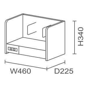 JVCケンウッドニューワークスタジオ専用オプション/2WAYシェルフDD-U351