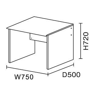ワークスタジオ/ミニデスク/DD-751(W75×D50)