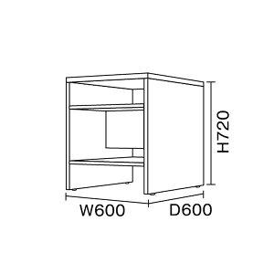 ワークスタジオ/FLAT/スペースシェルフ(DD-S900-BK/DD-S900-WH)