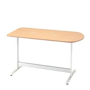 医療施設向け ナーステーブル イトーキ メディワークテーブル 片アール型/配線キャップ付タイプ W160×D80cm 【自社便/開梱・設置付】