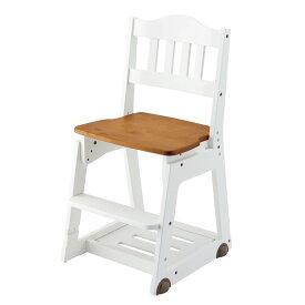 [全品対象【3%OFFクーポン】3/5金限り]学習チェア 学習椅子 木製 チェア イトーキ KM98-7WHGX ホワイト カントリー アウトレット 旧型 キッズチェア 子供イス 子供チェア 特価品 ITOKI 木