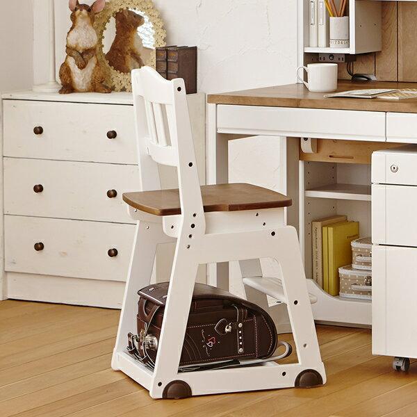 イトーキ 学習チェア 木製チェア KM98-8WHGX ホワイト カントリー 座面の高さが変えられる