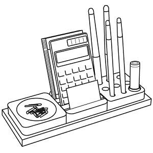 デスクオーガナイザー/文房具/収納/コサイン/EC-10NM