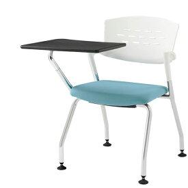 会議チェア 椅子 イトーキ ITOKI カクタスチェア グライド付・メモ台付 布張り 脚:Z5 シルバーメタリック【自社便 開梱・設置付】