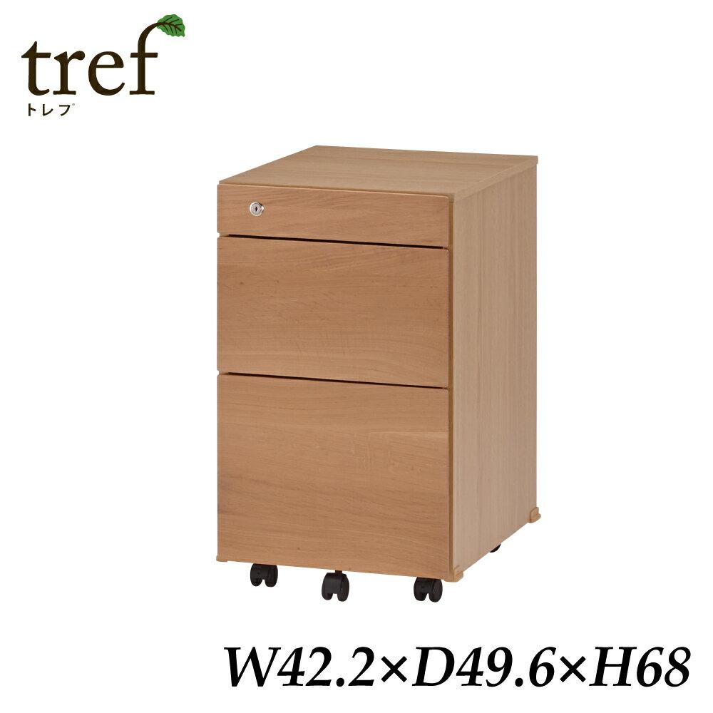 イトーキ 3段 木製ワゴン トレフ YTF-WW