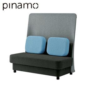 クリエイティブワーク家具 イトーキ ピナモ オフィス用 ソファ 2人掛 2シーター ハイバック