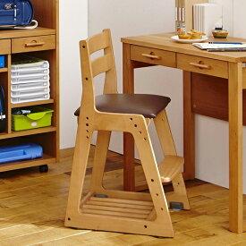 椅子 いす イス 木製 チェア ソフトレザー張り レザー クッション付き 足置き 天然木 バーチ材 学習椅子 学習イス 勉強イス 勉強椅子 学習チェア イトーキ ITOKI KM16 木 シンプル キッズチェア 子供向け