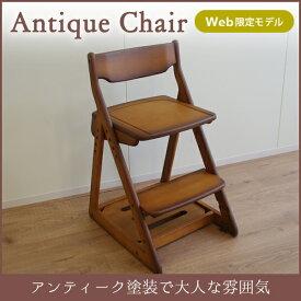 チェア 木製チェア 木製 アンティーク風 イトーキ ITOKI KM67-9Q 学習チェア 椅子 いす イス チェア 学習椅子 学習イス 勉強イス 勉強椅子