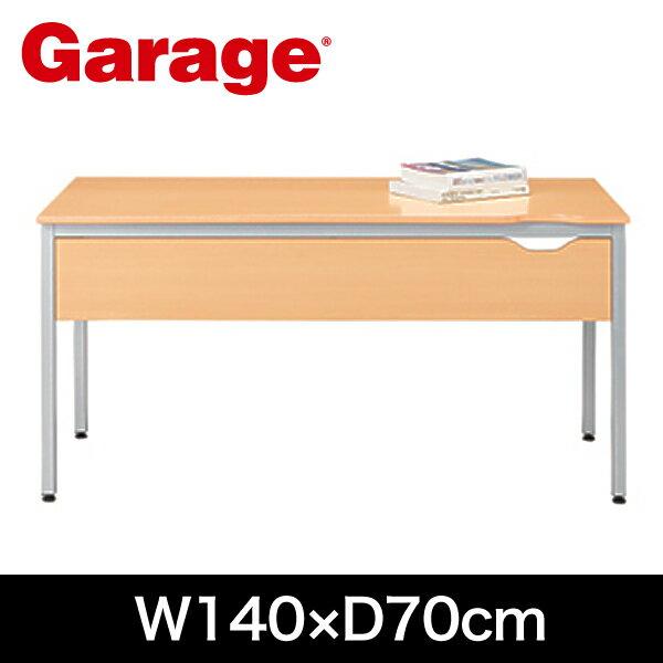 平机 PCデスク Garage デスク Y2 幕板付き 幅140cm 奥行70cm Y2-147HM 木目