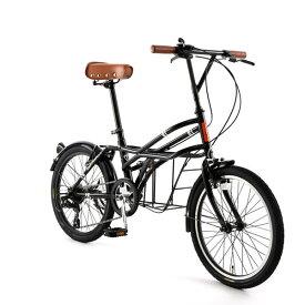 自転車 20インチ ミニベロ ドッペルギャンガーROADYACHTロードヨット シャ・ノワール 7段変速機 DOPPELGANGER 330-N-BK