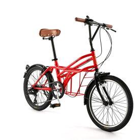 自転車 20インチ ミニベロ ドッペルギャンガーROADYACHTロードヨット ロッソ・ヴィーノ 7段変速機 DOPPELGANGER 330-N-RD