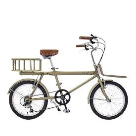 おしゃれ レトロ 自転車 ミニベロ WACHSENヴァクセン 20インチ カーゴバイク 6段変速 colotコロット WBG-2001