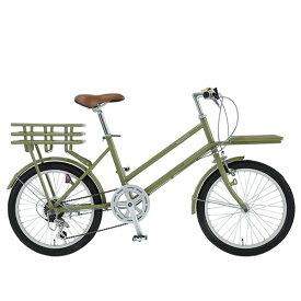 おしゃれ レトロ 自転車 ミニベロ WACHSENヴァクセン 20インチ カーゴバイク 6段変速 ROKEローク WBG-2002