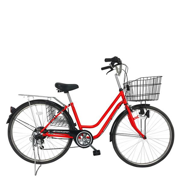 自転車 ACTIVEPLUSアクティブプラス911ノーパンク軽快車266SF レッド 26インチ6段変速 ミムゴMIMUGO MG-TCG266NF