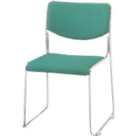 ナイキ パイプイス パイプ椅子 会議イス 会議用チェアー ループ脚タイプ 肘なし 布張り E169F