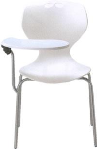 アイコ メモ台付きチェア テーブル付き椅子 イス 肘なし 4本脚 ヌードタイプ MC-404T