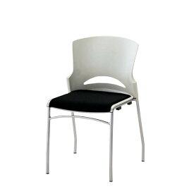 ミーティングチェア スタッキングチェア 会議用チェア 椅子 肘なし ルルコラ チェアー固定脚 背カバーなし LLC-11
