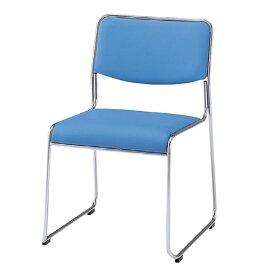 パイプ椅子肘なし ビニルレザー張りNORL-615LN